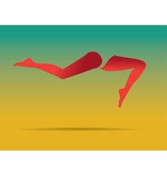 Abstract leg art vector image