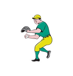 American Baseball Player OutFielder Throwing Ball vector