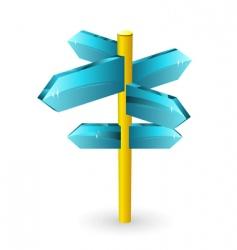 arrow road sigs vector image