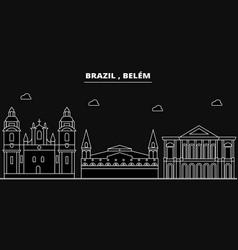 Belem silhouette skyline brazil - belem vector