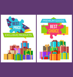 best price exclusive product premium quality goods vector image