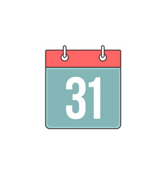 Bind calendar outline icon vector