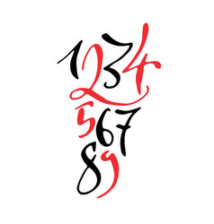 black and red hand drawn high quality calligraphy vector image