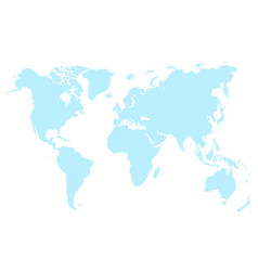 blue map world isolated vector image