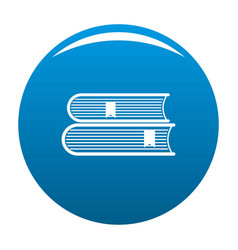 Book college icon blue vector