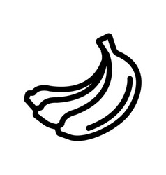 Bundle banana icon isolated contour vector