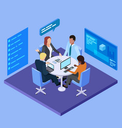 business meeting in international company vector image