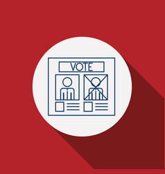 Card paper of vote concept vector