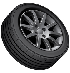 Cars wheel vector image