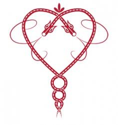 Celtic heart vector