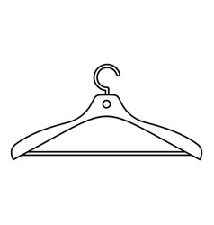 clothes hanger icon outline style vector image