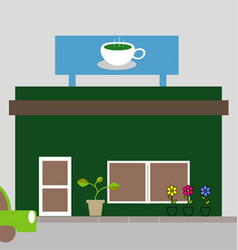coffee shop store or cafe vector image
