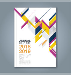 cover annual report 1022 vector image
