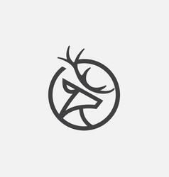 Deer logo icon circular icon vector