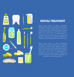 dental treatment banner template with dentist vector image