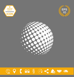 Earth logo - halftone sphere graphic elements vector