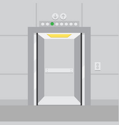 Elevator with opened door vector