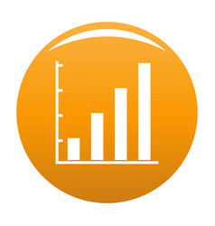 finance chart icon orange vector image