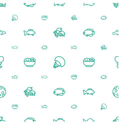 Fish icons pattern seamless white background vector