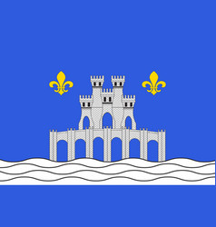 Flag of pontoise in val-doise in ile-de-france vector
