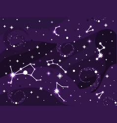 Galaxy constellation space background with stars vector