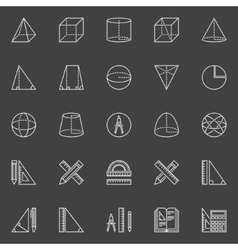 Geometry and math icons vector