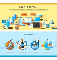 Graphic Art Page Design vector image