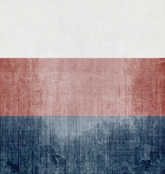 Grunge Flag Of Russian Federation vector image