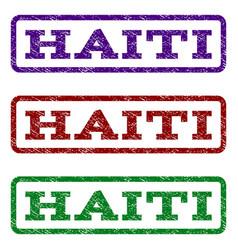 haiti watermark stamp vector image