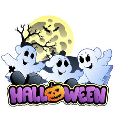 Halloween sign and image 1 vector