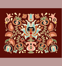 hand drawn national crimean tatar pattern vector image