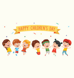 happy children day vector image