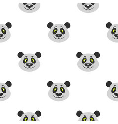 Head of panda bear pattern seamless vector