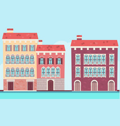 houses of venice near the water vector image