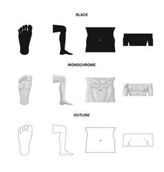 Human and part symbol vector