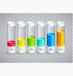 infographic icons with 6 parts of columns vector image vector image
