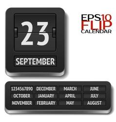 Isolated analog flip calendar vector