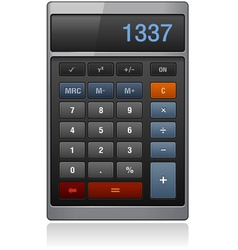 lassic calculator vector image