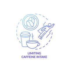 Limiting caffeine intake blue gradient concept vector