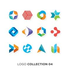 logo collection 4 vector image