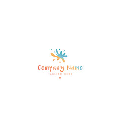 logo on which abstract image vector image