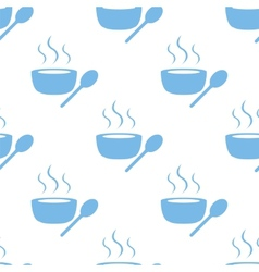 Lunch time seamless pattern vector image