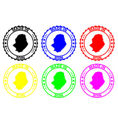 Made in niue rubber stamp vector