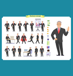 Manager character creation set vector