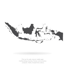 map indonesia isolated black vector image