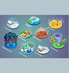Meteorological disaster or extreme weather vector