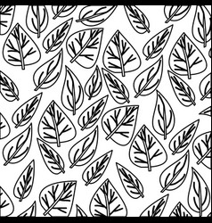 Monochrome pattern of ovoid leaves vector