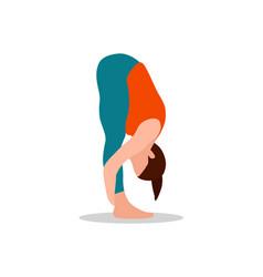 mountain bend forward pose vector image