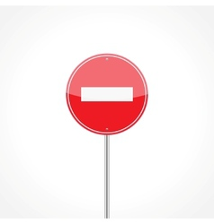 No entry traffic sign vector