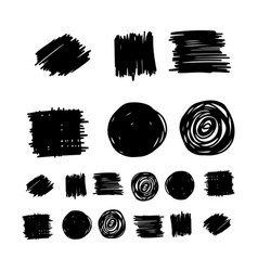 paint ink brush stroke vector image